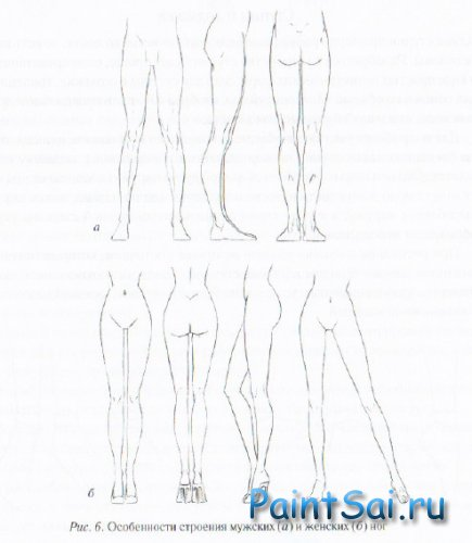 Как рисовать Ноги аниме