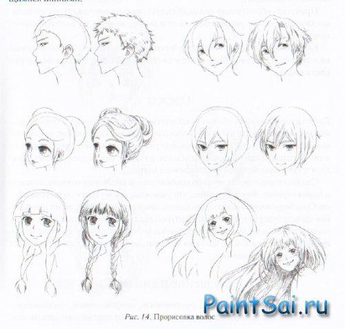 Как рисуют анимешных героев