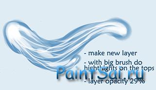 Рисование воды в Paint Tool SAI