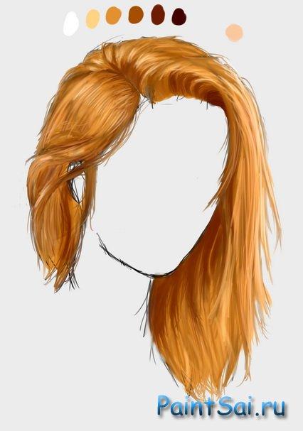 Скачать кисти волосы для саи
